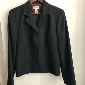 Talbots coat blazer size 12 Dark grey